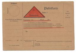 Deutsches Reich Postformular Paketkarte / Postanweisung - Germany