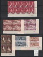 Palestine - Egypt - 6 Coins Datés Neufs Sans Charnière - 6 MNH Plate Blocks With Date - Palestine