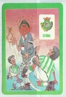 1986 Pocket Calendar Calandrier Calendario Portugal Futebol Soccer Setúbal - Calendars