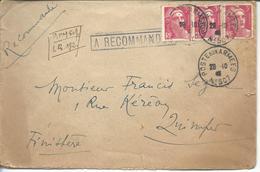 Occupation De L'Allemagne LR Poste Aux Armées N°507 (QG De La 1° Armée En Allemagne - Poststempel (Briefe)