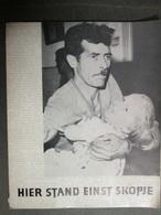 HIER STAND EINST SKOPJE, FOTOBUCH VON ERDBEBEN IN SKOPJE 26 VII 1963 - Libros, Revistas, Cómics