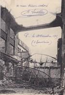51  REIMS. MILITARIA. GUERRE 14-18 .BOMBARDEMENT . PLACE BARRE. MAISON DE COMMERCE POULLOT ET CIE + TEXTE DU 13/12/1915 - Guerre 1914-18