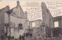 51 LE GRAND HAMEAU (ENVOYÉ DU) PORT A BINSON..BOMBARDEMENT DU 3 SEPTEMBRE 1914.+ TEXTE DU 9//07/1915 - Guerre 1914-18
