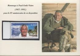 TAAF Carte  Hommage à Paul-Emile VICTOR Avec TP 417 Neuf. - Non Classificati