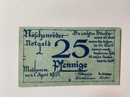 Allemagne Notgeld Moschenroder 25 Pfennig - [ 3] 1918-1933 : République De Weimar
