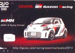 Télécarte JAPON *  TOYOTA *  (1600)  Phonecard JAPAN * VOITURE * Auto CAR * TELEFONKARTE - Cars