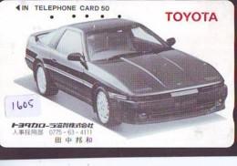 Télécarte JAPON *  TOYOTA *  (1605)  Phonecard JAPAN * VOITURE * Auto CAR * TELEFONKARTE - Cars