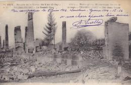 .51 THIEBLEMONT GUERRE 14-18. BATAILLE DE LA MARNE..LA GRANDE RUE + TEXTE DU 8 JUIN 1916 - Guerre 1914-18