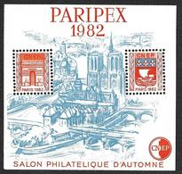 Bloc CNEP N° 3 - PARIPEX 1982  - Variété Sans Traits Sur Les Toits - Nsg - CNEP