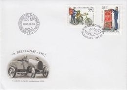 Hungary 1997 - Stamp Day: Mailbox, Motorized Tricycle - FDC - Poste