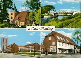 Lübeck OT Moisling Mit Geschäft Otto Melinkat, Kanal,  Genin, Hochhaus 1971 - Deutschland