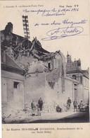 02  SOISSONS. GUERRE 1914-18. BOMBARDEMENT DE LA RUE SAINT REMY.. + TEXTE DU 6 MAI 1916 - Guerre 1914-18