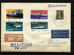 DDR - RECO-Beleg Mit Mehrfachfrankatur Stempel ZSCHERNDORF - Covers