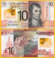 Scotland 10 Pounds P-229Q 2017 Clydesdale Bank UNC - [ 3] Escocia