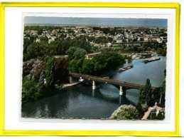 Rueil-Malmaison.  Le Pont Du Chemin De Fer . En Avion Au Dessus De ... Edit Lapie N°10. Peniches Batellerie - Rueil Malmaison