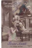 """62; LOUEZ LEZ DUISANS ( ENVOYÉ DE).CARTE PATRIOTIQUE.  """"PAPA SERA UN HÉROS """" +TEXTE MILITARIA DU 24/12/1914 - Guerre 1914-18"""