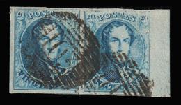 PAIRE De COB N° 11 TB - Bien Margé + Bord De Feuille  & 1 Voisin - P103 (SAINT-GHISLAIN) - N° 14 Et 15 Sur Le Panneau. - 1849-1865 Medallions (Other)
