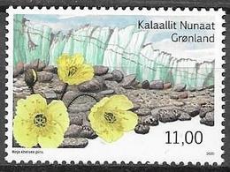GREENLAND, 2020, MNH, ARCTIC DESERTS, FLOWERS, FLORA, 1v - Vegetales