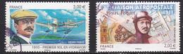 France Poste Aérienne Centenaire Du 1er Vol En Hydravion Henri Fabre Liaison Aéropostale Henri Péquet N°73-74 Oblitéré - Poste Aérienne