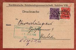 Karte, Drucksache, Posthorn, Hanau Nach Wiesbaden 1923 (91757) - Deutschland