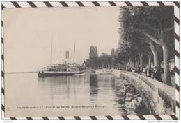 3AC1059  EVIAN LE LES BAINS LE QUAI BARON DE BLONAY  2  SCANS - Evian-les-Bains