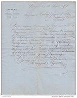 34 MEZE  COURRIER 1871 VINS DU MIDI NOURIGAT & VEYRETTE   * S11 - 1800 – 1899