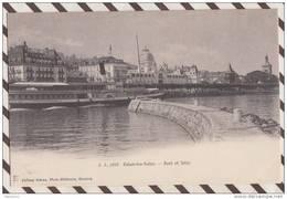 3AC1061  EVIAN LE LES BAINS  PORT ET JETEE  2  SCANS - Evian-les-Bains