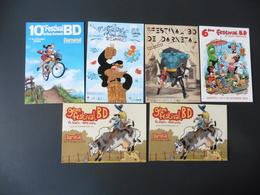 LOT  DE  6  CARTES  NEUVES  SUR  LE  FESTIVAL  DE  LA   B D   DE  DARNETAL (76) - Cartes Postales