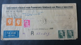 Lettre A En Tete De Hanoi En Recommandé 1946 Affr. Dulac Et Gandon Griffe BPM 403 Annexe De Hanoi TB - Marcophilie (Lettres)