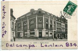 - 19 - LENS - ( P.-de-C. ), Théâtre Omnia, écrite  1903, éditeur Delattre - Goudin; Coins Ok, TBE, Scans, . - Lens
