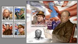 CENTRALAFRICA 2020 MNH Winston Churchill 4v+S/S - IMPERFORATED - DH2010 - Sir Winston Churchill