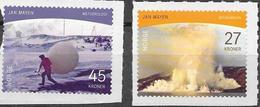 NORWAY, 2020, MNH,POLAR MOTIFS, JAN MAYEN ISLAND, VOLCANOES, 2v - Filatelia Polar