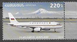 ARMENIA, 2019, MNH, TRANSPORT, PLANES, MOUNTAINS, 1v - Avions