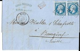 Elsass, Alsace,   Barr 67, 26 Nov 1866, Atempeltype 15.200503.06 - Marcofilie (Brieven)
