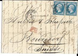 Elsass, Alsace,   Wasselonne 67, 9 Dec 1863, Stempeltype 15 Met Groot Cijfer 4338200503.07 - Marcofilie (Brieven)