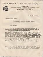 """Croix De Feu Juin 1934 / 4 Pages / Rassemblement Massif Contre """"provocations Virulentes Du Front Commun"""" - Documents"""