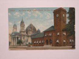 San Jose : Post Office And St Joseph's Church - San Jose