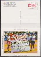 Schweiz Ganzsache1998 Nr.P 263/02 Ungebraucht  FED CUP Finale ( PK 46) Günstige Versandkosten - Stamped Stationery