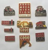 CASE AGRICULTURE & BTP TRACTEUR MOISSONNEUSE PELLETEUSE Lot De 10 Pin's  Différents - Transport