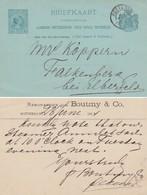 Nederland Briefkaart (G) 29 Gebruikt, Achterzijde Particulier Bedrukt - Entiers Postaux