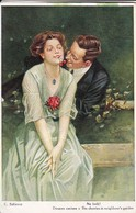 AK Künstlerkarte F. Schlemo - Na Beiß! - Douces Cérises - Liebespaar - Ca. 1920 (47782) - Schlemo, F.