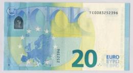 VERY RARE 20 EURO IRELAND DRAGHI T010 A1 UNC - EURO