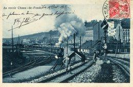 CHAUX DE FONDS  *** TRAIN EN GARE *** - NE Neuchâtel
