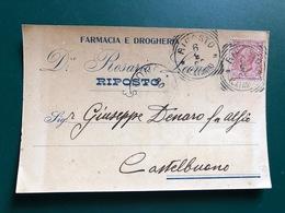 RIPOSTO (CATANIA) FARMACIA E DROGHERIA D.RE ROSARIO  1908 - Catania