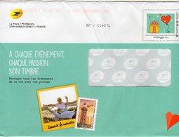 """Entier Postal Spécial Pour PHIL@POSTE - Repiquage Par Philaposte Timbre """" Cadeau Et Coeur """"  251882 - PAP : Su Commissione Privata TSC E Sovrastampe Semi-ufficiali"""
