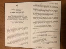 Demeyer August Echtg Dobbelaere Maria Helena *1878 Drongen +1949 Drongen Hertoge Van Gyseghem Van Vynck - Obituary Notices