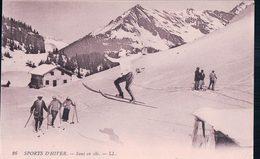 Sports D'Hiver, Saut à Ski (26) Trace De Collage Et Aminci Au Dos - Winter Sports