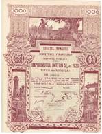 Titre Ancien - Regatul României - Ministerul Finantelor - Datoria Publica - Impruntul Intern. 5% Din 1920 - Déco - Actions & Titres