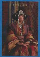 CPM Publicitaire Mode Bijoux Accessoire Femme Satelite - Femme Costume Type Mongol Liste Des Points De Vente Au Recto - Werbepostkarten