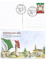 """Italia, Italy 2005 : Esercito Italiano : """"60° Anniversario Della Liberazione"""". Emesso A Martellago ( VE) - 6. 1946-.. Repubblica"""